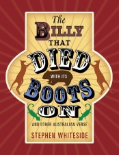 Stephen's book cover Died with Billy Boots on