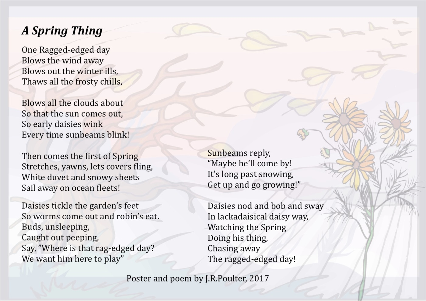 A Spring Thing Australian Childrens Poetry